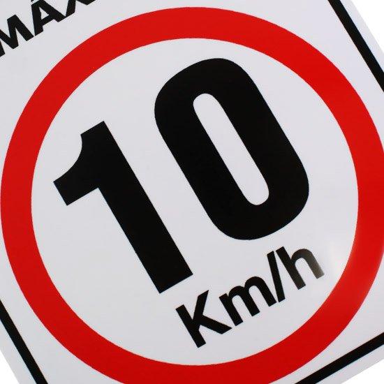 Placa Sinalizadora de Atenção Velocidade Máxima 10 Km/h - Imagem zoom