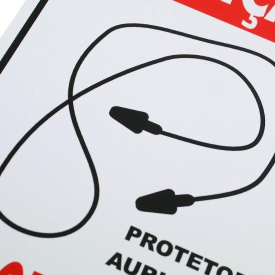 Placa Sinalizadora Atenção Uso Obrigatório Protetor Auricular  - Imagem zoom