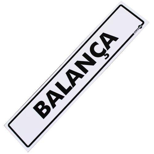 placa sinalizadora para balança
