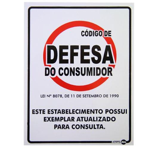 placa sinalizadora código de defesa do consumidor