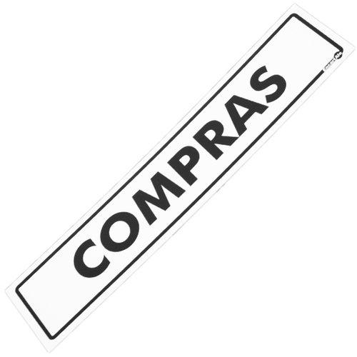 placa sinalizadora de compras