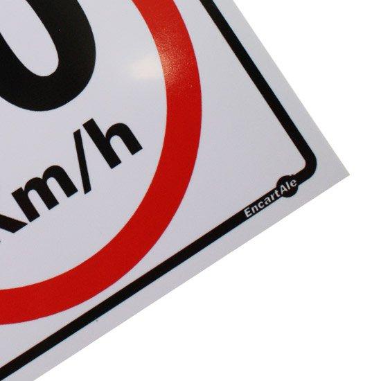 Placa Sinalizadora de Cuidado com as Crianças 10 km/h - 20 x 30 cm - Imagem zoom
