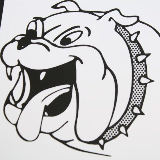 Placa Sinalizadora Cuidado Cachorro Bravo  - Imagem zoom