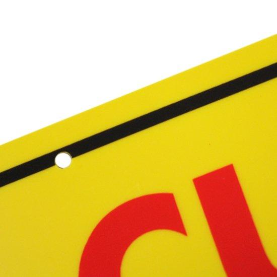 Placa Sinalizadora Cuidado Veículos (Frente e Verso)  - Imagem zoom