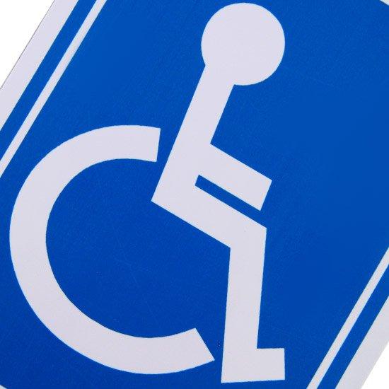 Placa Sinalizadora Cadeirante - Imagem zoom