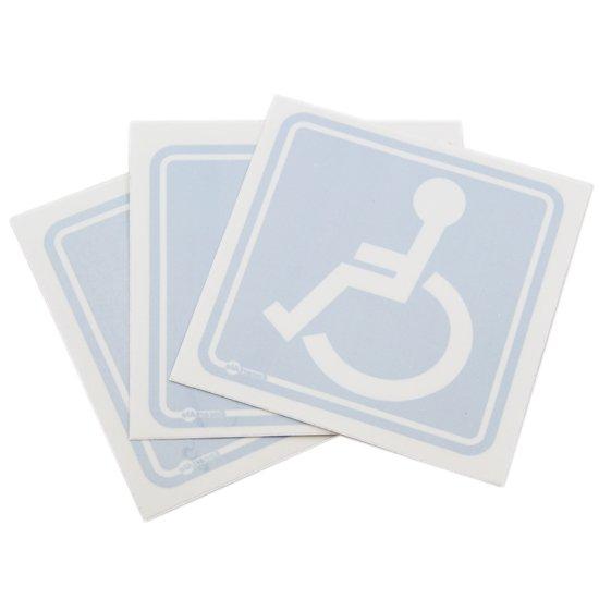 Adesivo de Sinalização de Vidro para Cadeirante com 3 Peças - Imagem zoom