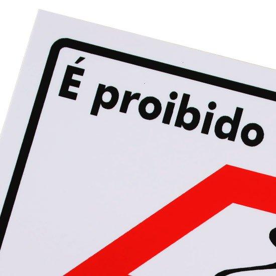 Placa Sinalizadora Proibido Fumar com Mapa de São Paulo  - Imagem zoom