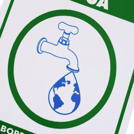 Placa Sinalizadora de Economize Água - Imagem zoom