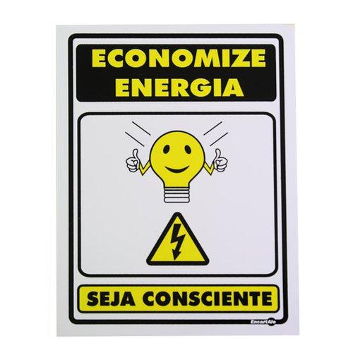placa sinalizadora economize energia seja consciente