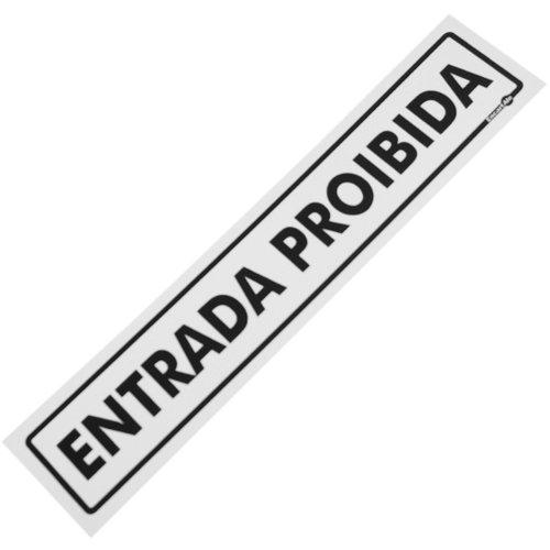 placa sinalizadora de entrada proibida