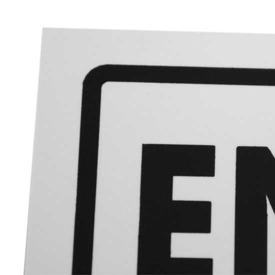Placa Sinalizadora de Entrada Proibida - Imagem zoom