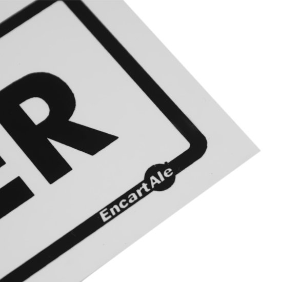 Placa Sinalizadora de Entre sem Bater - Imagem zoom