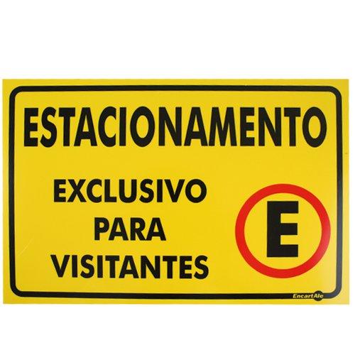 placa sinalizadora estacionamento exclusivo para visitantes