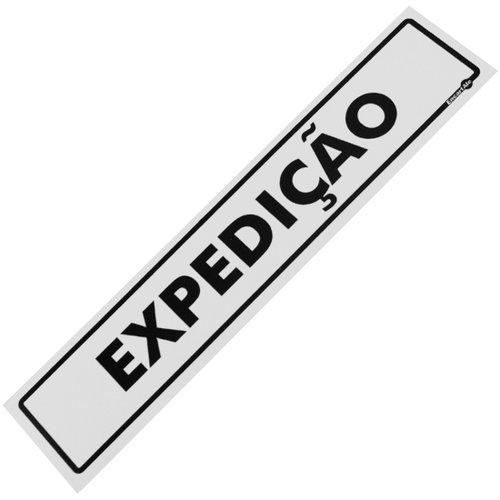 placa sinalizadora para expedição