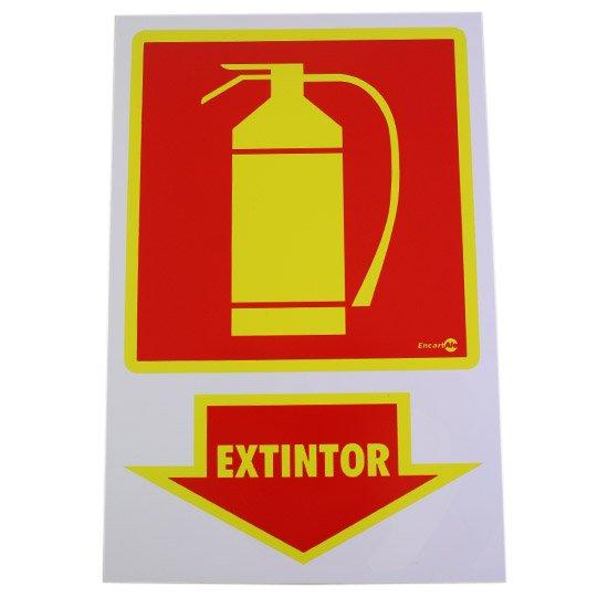 Placa Sinalizadora Extintor  - Imagem zoom