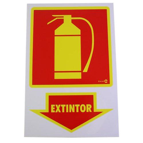 placa sinalizadora extintor