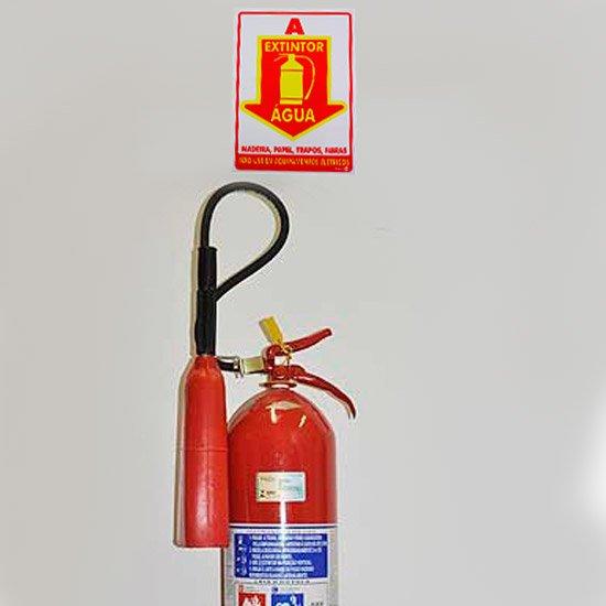 Placa Sinalizadora Extintor Água - Imagem zoom