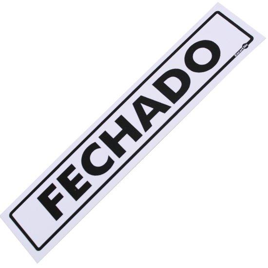 Placa Sinalizadora de Fechado - Imagem zoom