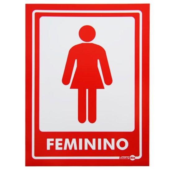 Adesivo Sinalizador de Parede Feminino com 2 Unidades  - Imagem zoom