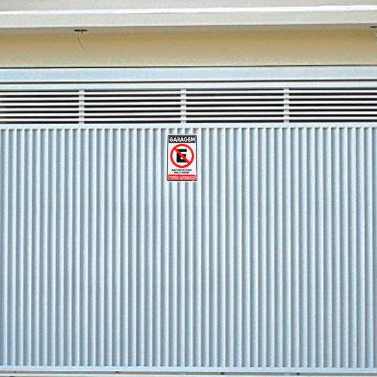 Placa Sinalizadora de Garagem, Não Estacione - Imagem zoom