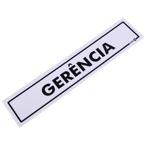 placa sinalizadora para gerência