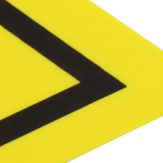 Placa Sinalizadora de Inflamável Triangular - Imagem zoom