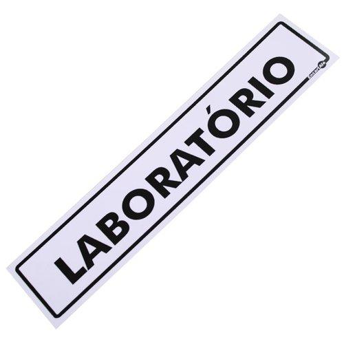 placa sinalizadora para laboratório