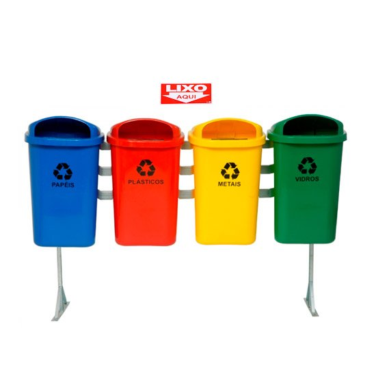 Placa Sinalizadora Lixo Aqui  - Imagem zoom