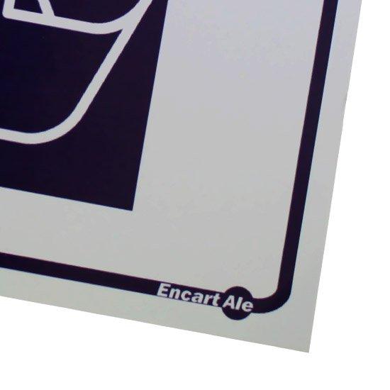 Adesivo de Parede Sinalizador Lixo Papel  - Imagem zoom
