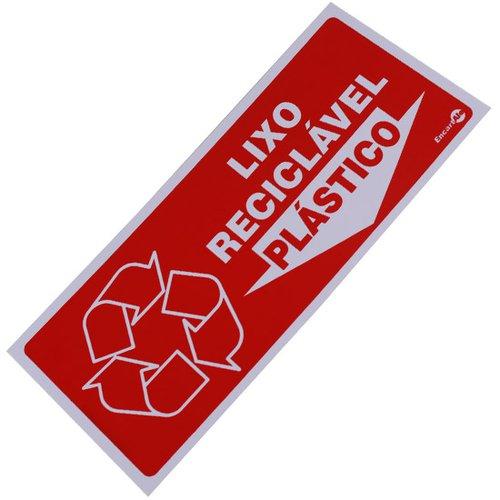 placa sinalizadora lixo reciclável plástico