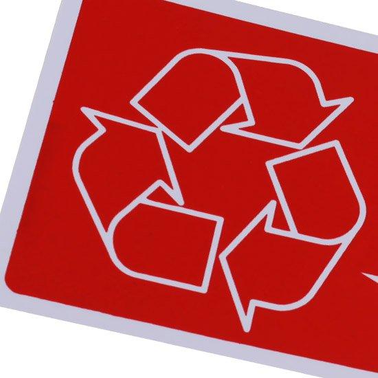Placa Sinalizadora Lixo Reciclável Plástico - Imagem zoom