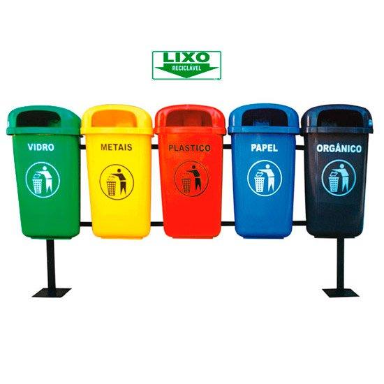 Placa Sinalizadora Lixo Reciclável  - Imagem zoom