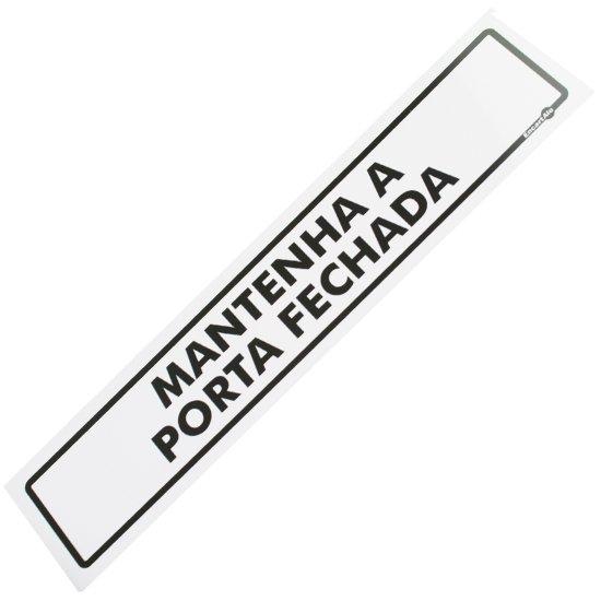 Placa Sinalizadora de Mantenha a Porta Fechada - Imagem zoom