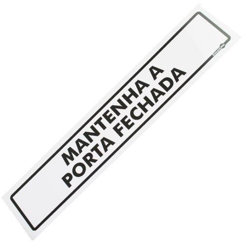 placa sinalizadora de mantenha a porta fechada