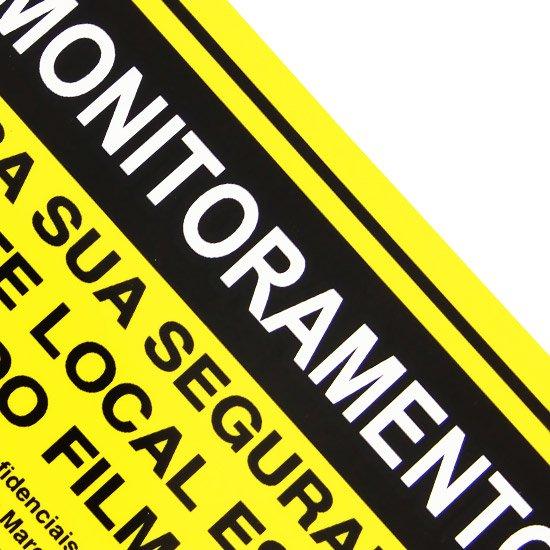 Placa Sinalização Monitoramento com Lei Municipal - Imagem zoom