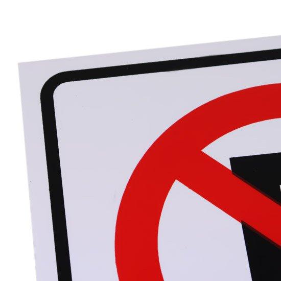 Placa Sinalizadora de Não Estacione Dia e Noite - Imagem zoom