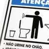 Placa Sinalizadora de Não Urine no Chão - Imagem 2