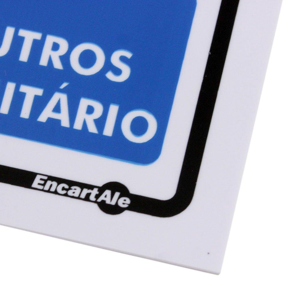 Placa Sinalizadora de Não Urine no Chão - Imagem zoom