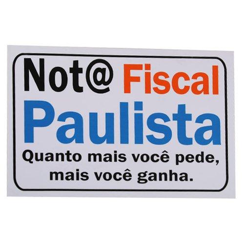 placa sinalizadora nota fiscal paulista