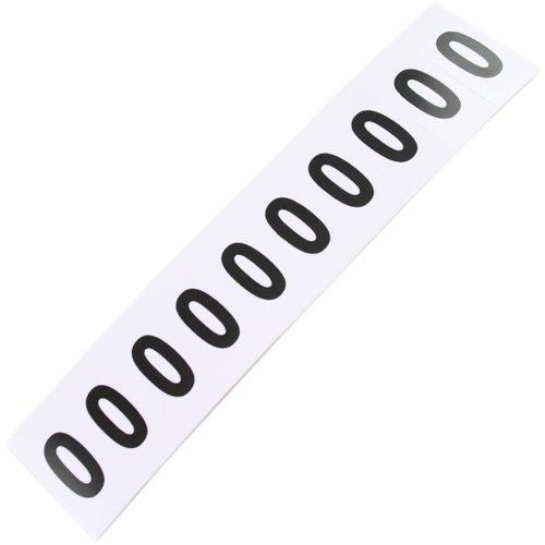 plaqueta numérica número 0 com 10 peças destacáveis