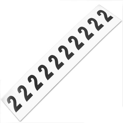 plaqueta numérica número 2 com 10 peças destacáveis