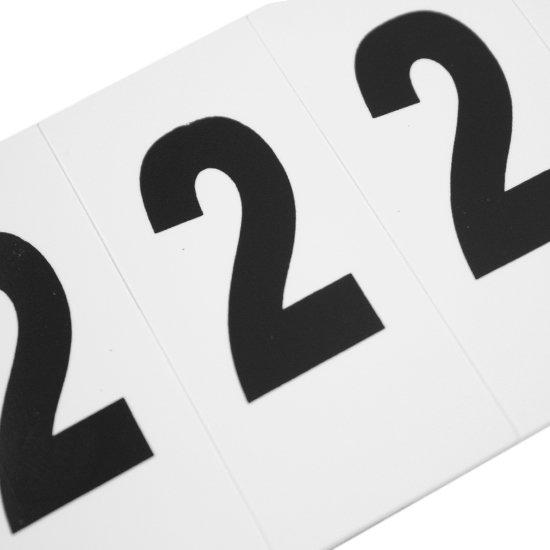Plaqueta Numérica Número 2 com 10 Peças Destacáveis - Imagem zoom