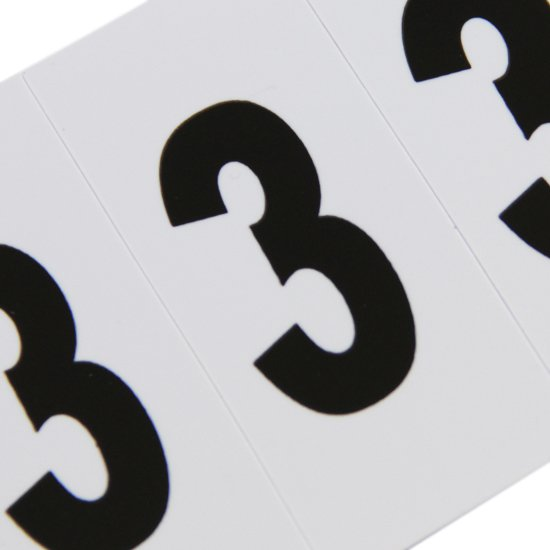 Plaqueta Numérica Número 3 com 10 Peças Destacáveis - Imagem zoom