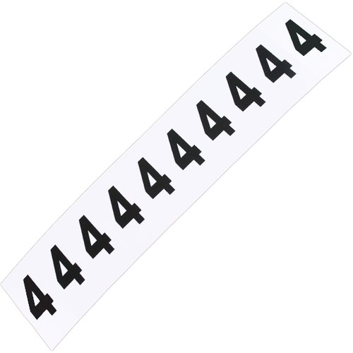 plaqueta numérica número 4 com 10 peças destacáveis