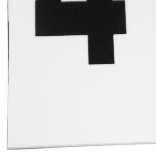 Plaqueta Numérica Número 4 com 10 Peças Destacáveis - Imagem zoom