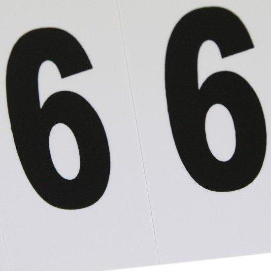 Plaqueta Numérica Número 6 com 10 Peças Destacáveis - Imagem zoom