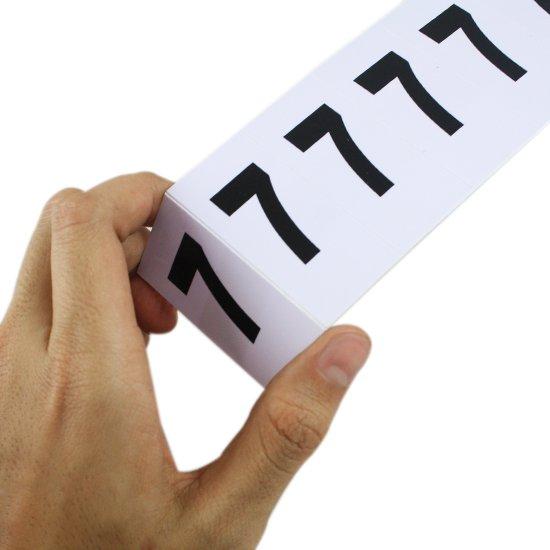 Plaqueta Numérica Número 7 com 10 Peças Destacáveis - Imagem zoom