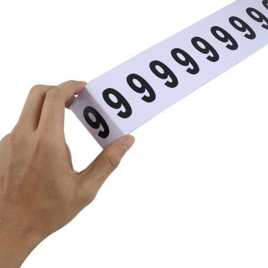 Plaqueta Numérica Número 9 com 10 Peças Destacáveis - Imagem zoom
