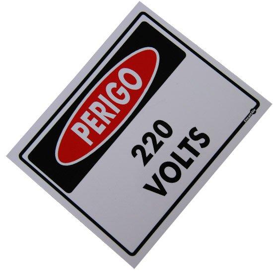Placa Sinalizadora Perigo 220 Volts  - Imagem zoom