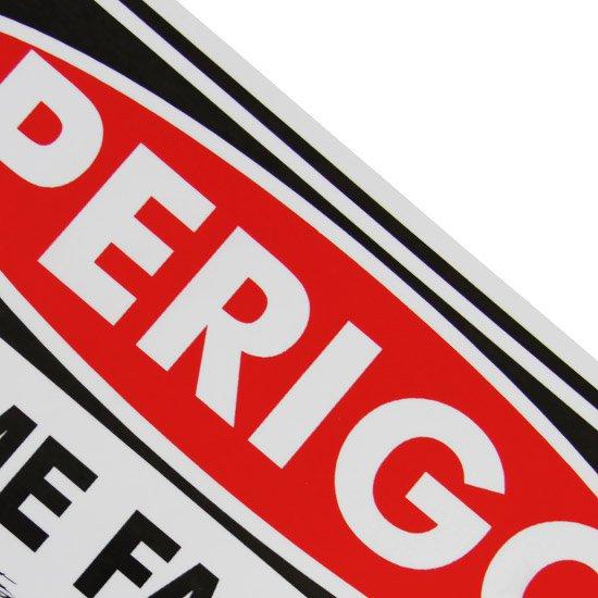 Placa Sinalizadora Perigo Arame Farpado  - Imagem zoom